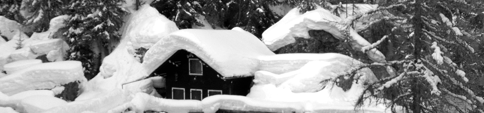 Snö på taken
